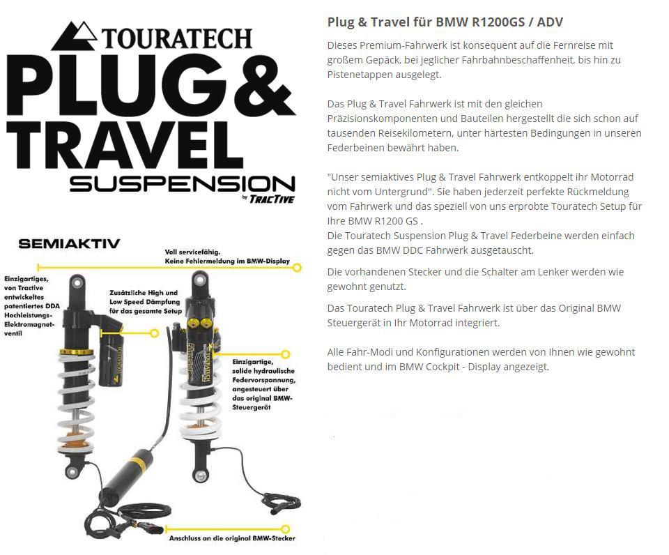 Plug & Travel Fahrwerk R 1200 GS ab 2013