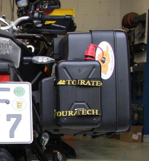 ersatzkanister halter motorrad
