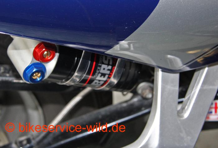 Ausgleichsbehälter mit Einstellung der Druckstufe in High- und Lowspeed.