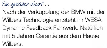 WESA Dynamic Feedback. Das Fahrwerk.